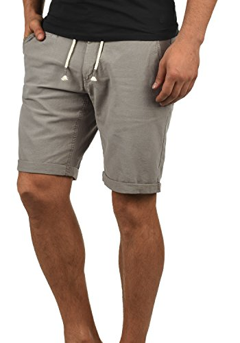 Blend lias pantaloncini di lino shorts bermuda da uomo regular- fit, taglia:m, colore:granite (70147)