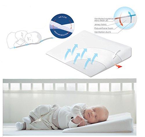 Baby Sicherheit Aero Wedge Kinderbett Matex Kissen (40x 36cm)
