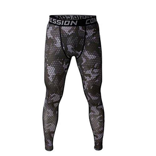 Männer Leggings lang Unterhose Unterwäsche Strumpfhose Herrenleggings Hose - Grau , M