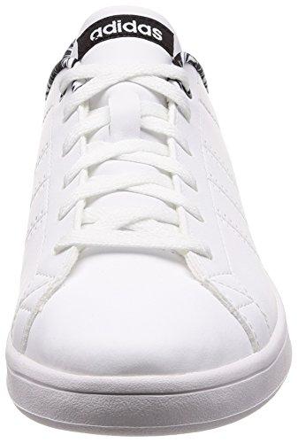 adidas Advantage CL QT W, Chaussures de Fitness Femme Blanc Cassé (Ftwr White/core Black)