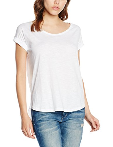 Urban Classics Ladies Long Back Shaped Slub Tee, T-Shirt Donna, Weiß (White 220), X-Large