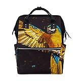 Best KAKA Backpacks For Kids - FAJRO Parrot Waves WingTravel backpack canvas Handbag School Review