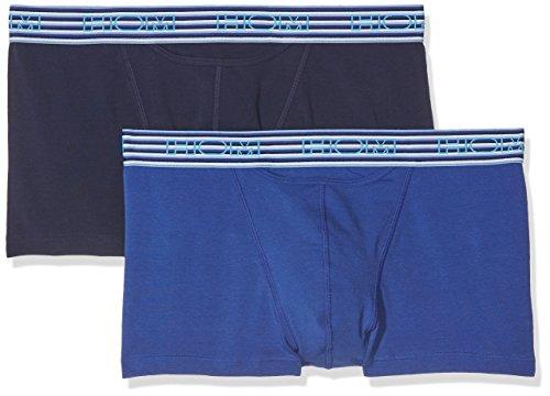 Undie-set (HOM Herren Boxershorts Skyline 2 Boxer Briefs Ho1 Pack X2, 2, Blau (Marineblau / Blau), S)