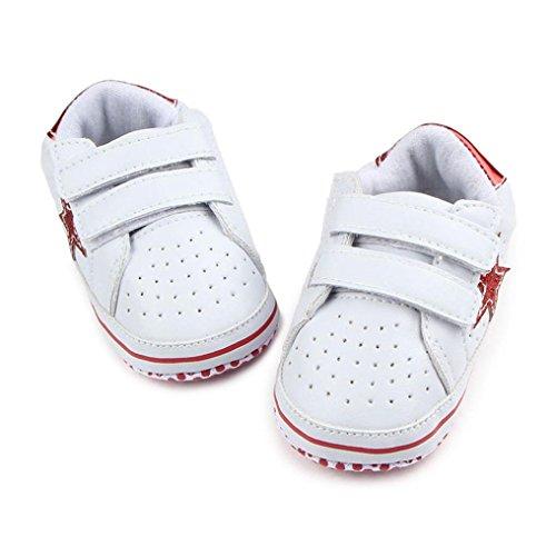 BZLine® Baby Soft fünfzackige Sterne Baby Kleinkind Schuhe Sneaker Kleinkind Schuhe Rot