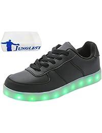 [Presente:peque?a toalla]Negro EU 37, Hombres JUNGLEST? moda Unisex Light Rojo 7 Zapatos Negro Up LE
