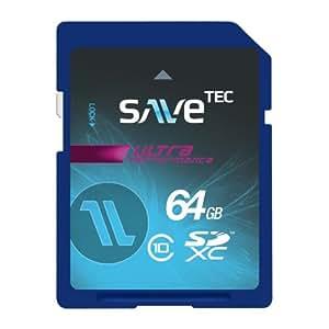 Savetec Speicherkarte 64 GB SDXC UHS-1 Ultra bis zu 60MB/s Class 10 für für Notebook PC Video Camcorder Chip Hersteller Samsung