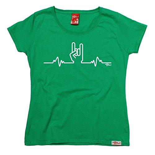 Banned - T-shirt - Slogan - Manches Courtes - Femme vert kelly