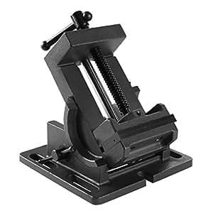 EBERTH Ètau parallèle pour perceuse à colonne mécanique inclinable (Largeur 100 mm, ècartement max.110 mm)