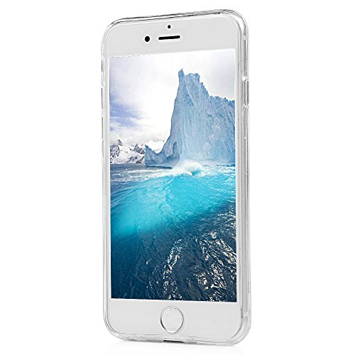 iPhone 6/6s Hülle Badalink Gemalt TPU Case Cover IMD Ultraslim Einhorn Handyhülle Schutzhülle Silikon Bumper Schutz Tasche Schale Transparent Antikratz Backcover Einhorn