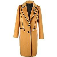 Il nuovo autunno e di inverno di modo signore Cappotto lungo di lana spessa cappotto (Tamburo Con Collare)