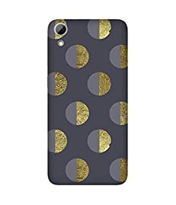 Golden Half Circles HTC Desire 626 Printed Back Cover