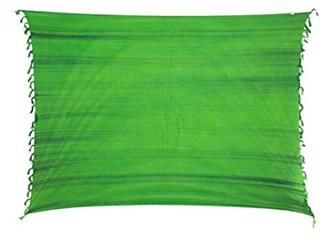 Sarong Pareo Wickelrock Strandtuch Tuch Wickeltuch Handtuch Gratis Schnalle Schließe Streifen Grün