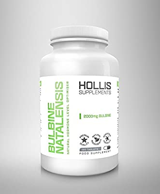 Bulbine Natalensis High Strenght 2000mg Testosterone Booster 120 Tablets By Hollis 100% Money Back Guarantee Made in the UK Testosterone Support Increase Sex Drive from Made in the UK