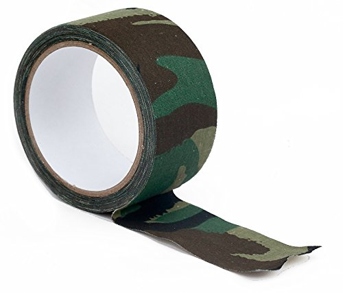 Armee DPM Tarnung Tuch Textilklebeband. 10m x 50mm army woodland camouflage tape.