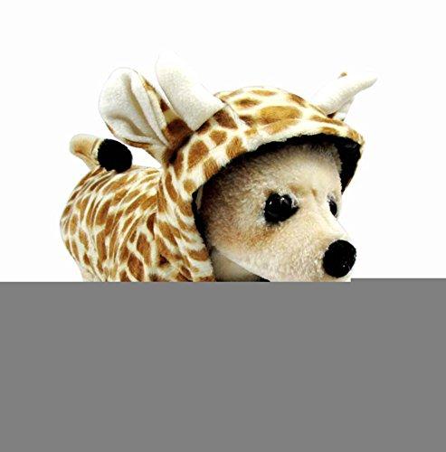 Icegrey Hund WeisehaustierHoodie Overall Kleidung Mantel Giraffen Kostüm Gelb-Form XL