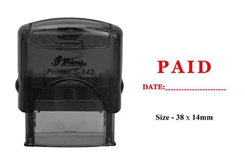 PAGATO con timbro di plastica per data Stampa trasparente per uso ufficio Timbro autoinchiostrante lucido
