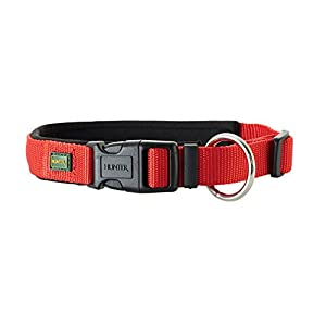 HUNTER Collar Neopren Vario Plus, Medium, 45 x 50 cm, Nylon Red/Neopren Black