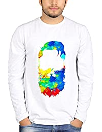 TBT ™ Men's Graphic Printed Full Sleeves T shirt (Multicolor Beard)