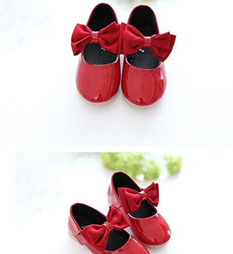 OPSUN Ballerines à bride Enfants Filles 2017 Nouvelle Mode Chaussure Cérémonie Fête Demoiselle d'honneur Mariage Escarpin plat Babies Rouge