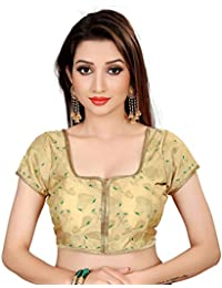 1cf443176d HF Holyday Fashion Women s Brocade and Georgette Round Neck Blouse