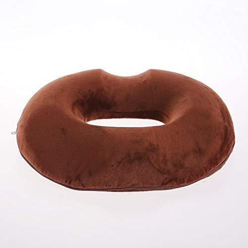 WEWE Memoria Espuma Anillo De Donut Asiento Asiento,Asiento Cojín Hemorroides Embarazo Apoyo Asiento Dolor De Coxis para Silla De Ruedas Asiento Inicio Oficina-marrón 45x41x7cm(18x16x3inch)
