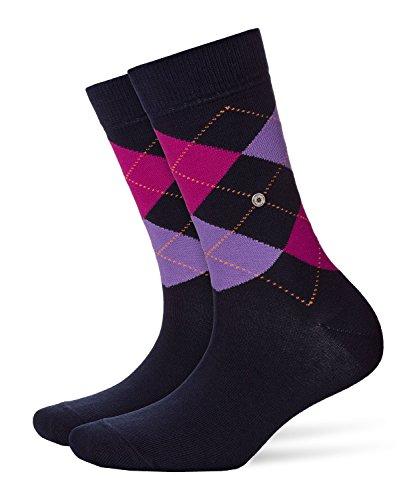 Burlington Damen modische Socken Queen klassisches Argyle Muster Baumwolle 1 Paar Blickdicht, blau (marine 6120) 36/41 (One Size)