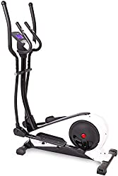 SportPlus crosstrainer with app control, Google Street View, watt display, approx. 18kg flywheel, 24 resistance levels, hand pulse sensors, user weight up to 130kg, security tested