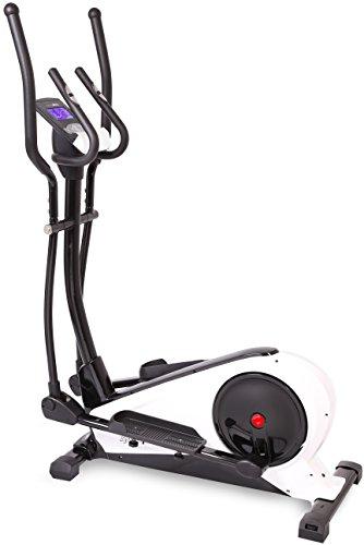 sportplus ellittica crosstrainer con controllo app, google street view, misurazione watt, ca.18 kg di massa volanica, 24 livelli di resistenza, manubrio con sensore delle pulsazioni, peso max. 130 kg, sicurezza testata