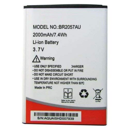 Replacement Internal Battery for Intex Aqua I5 Hd Br2057au2000 Mah Li-Ion