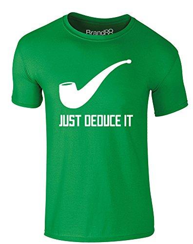 just-deduce-it-t-shirt-imprime-pour-adultes-vert-blanc-xl-111-116cm