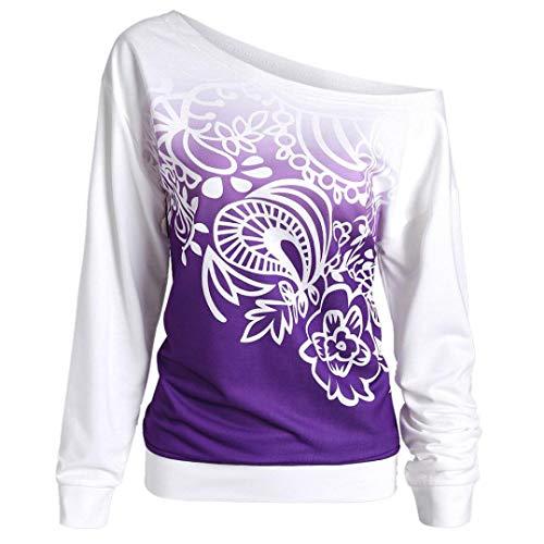 (YOUBan Bluse Damen Lässige Herbstbluse Langarm Sweatshirt Slim Fit T Shirts Bauchfreie Oberteile Festliche Blusen)