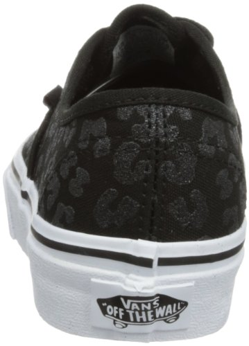 Vans T Authentic, Baskets mode mixte bébé Noir (Glitter Cheetah/Black)