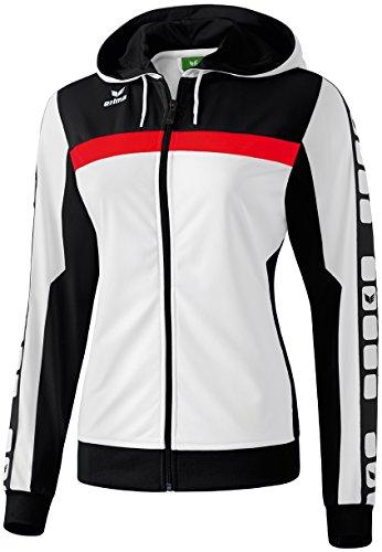 CLASSIC 5-CUBES Trainingsjacke mit Kapuze Weiß/Schwarz/Rot