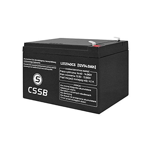 CSSB, batteria gel AGM per auto, 12.0V
