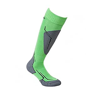 High Colorado Saalbach Socks Kids – Green/Anthracite/Black/Silver