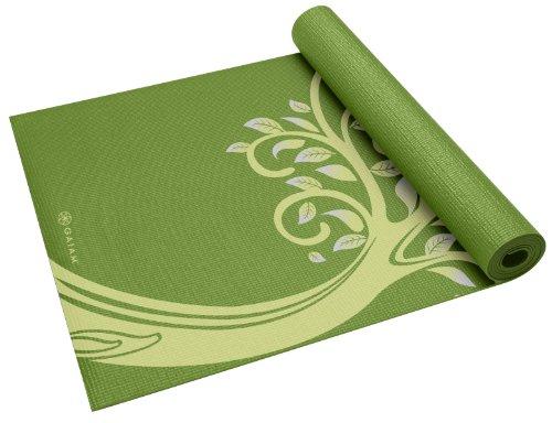 Gaiam Yoga Print Yoga Mat - Colchoneta de yoga, talla 3 mm
