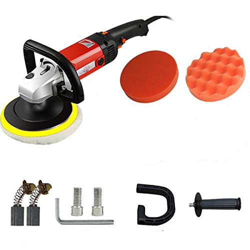 Seababyhouse Elektrischer Poliermaschine Schleifmaschine Waxer Sander Puffer Poliermittel für Reparatur von Autowerkstätten Auto Körperarbeit 1400W Electric Sander Buffer Polisher Machine Waxer
