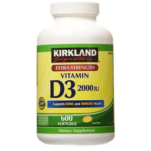 Vitamina D - Kirkland Signature Vitamin D3 2,000 IU - 600 Caps