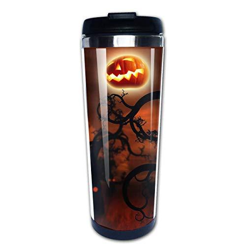 Happy Halloween Desktop Fashion Office Mug 400 Ml Portable Coffee Travel Mug For Men Women Stainless Steel Tumbler Cup (Desktop Happy Halloween)