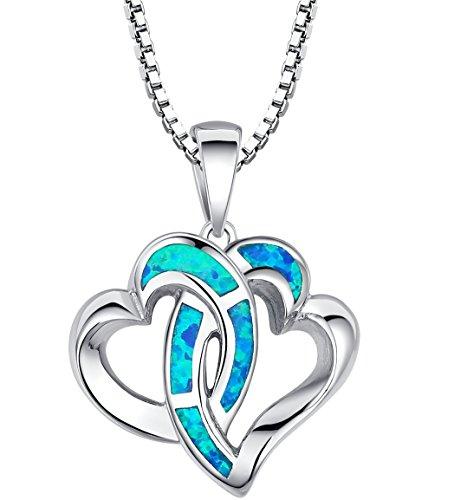 Arco Iris Jewelry Colgante de collar de la mujer de plata de ley