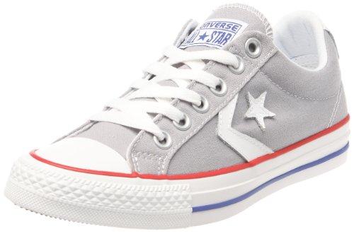 Converse Sp Core Canv Ox 289161-52-10 Unisex - Erwachsene Sneaker Grau (Gris/Blanc/Rouge)