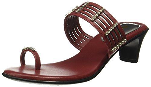 BATA Women's Diamond Toe Ring Red Fashion Sandals - 5 UK/India (38 EU)(6715981)