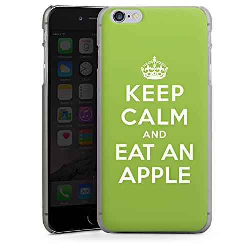Apple iPhone X Silikon Hülle Case Schutzhülle Keep Calm Apfel Statements Hard Case anthrazit-klar