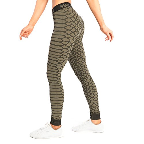 Smilodox Damen Seamless Leggings Scale Dunkel Grün