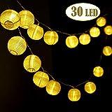 Josechan Cadena de Luces linternas 30LED 6.2M Luces Impermeable Batería Powered Guirnalda Luces Decorativas para Interior, Exterior, Dormitorio, Patio, Boda, Partido, Decoraciones de la Navidad