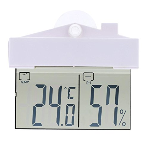 Digital Fenster Thermometer Hydrometer Indoor Outdoor Wetterstation LCD Digital Temperatur Wet Luftfeuchtigkeit Messgerät Saugnapf