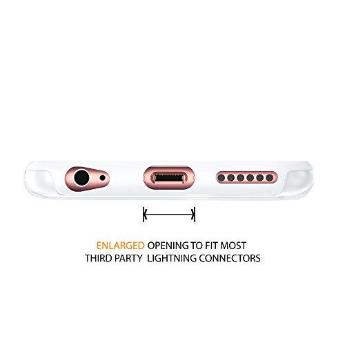 """iPhone 6 6s 4.7"""" Case, Hülle True Color® Kristall Clear Transparent Hybrid Abdeckung unterstützen stark + Soft dünne dauerhaft Schutz Stoß- TPU Stoßabdeckungs [Ultra Clear Sammlung] - Schwartz Weiß"""