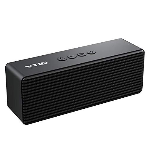 VTIN R1- Altavoz Bluetooth Portátiles, Bluetooth V4.2 con HiFi Audio y Bajos Mejorados, Llamadas...