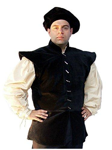 Leonardo Carbone Wams - Herren Gaston XXXL/schwarz (Gaston Kostüm)