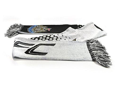 Newcastle United NUFC Fußball weiß schwarz verblassen Design Schal offiziellen